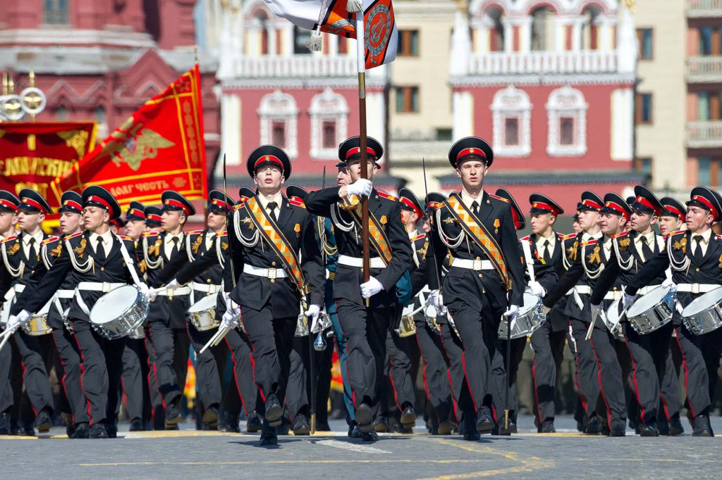 Red Square Parade 2015 celebration