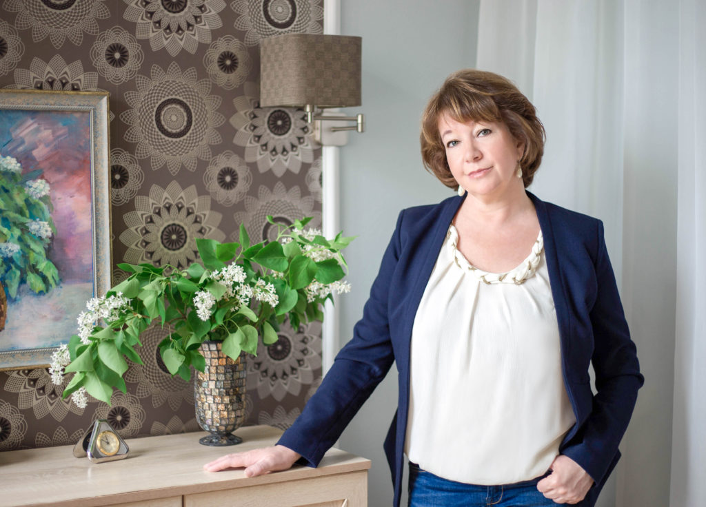 Maria Tcherkasova, a self-portrait. an interior designer in Moscow