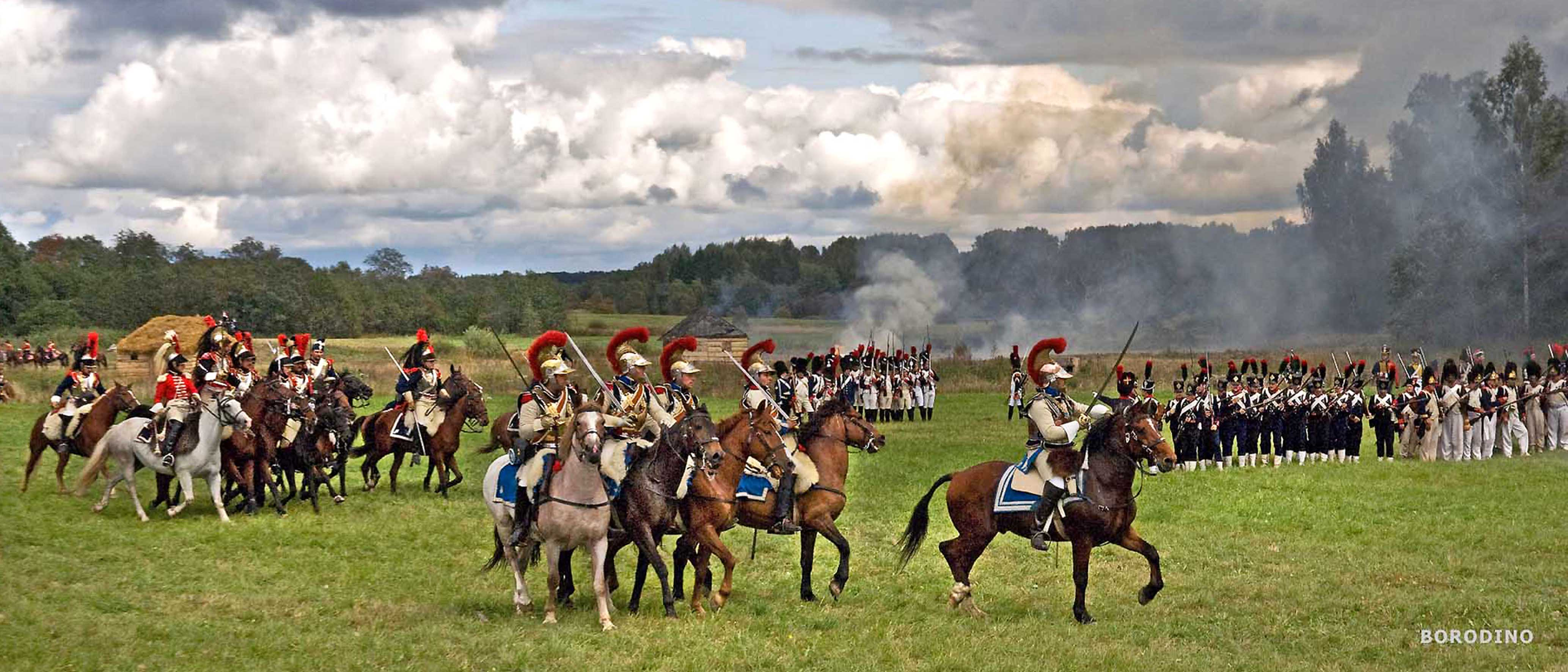 Borodino battle re-enactment in Moscow, 3