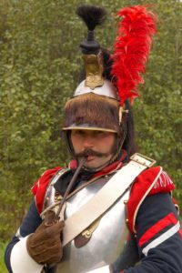 The battle of Borodino, a soldier in the costume 2