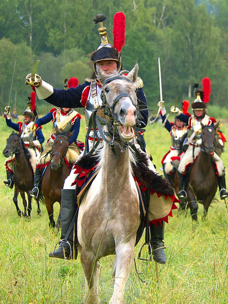 The Borodino battle, French Army, re-enactment