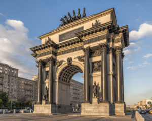 The Triumphal Arch in Moscow, a photo