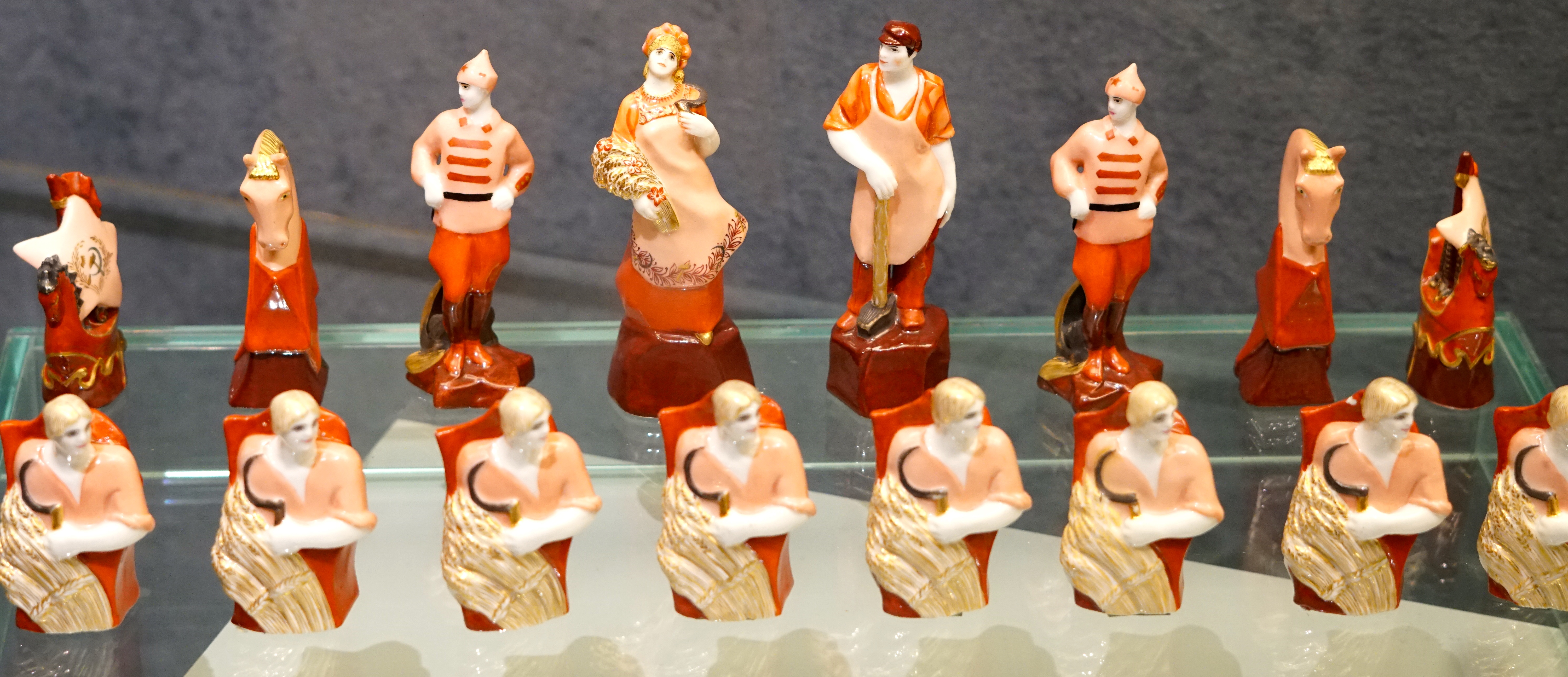 Porcelain of Soviet period - chess