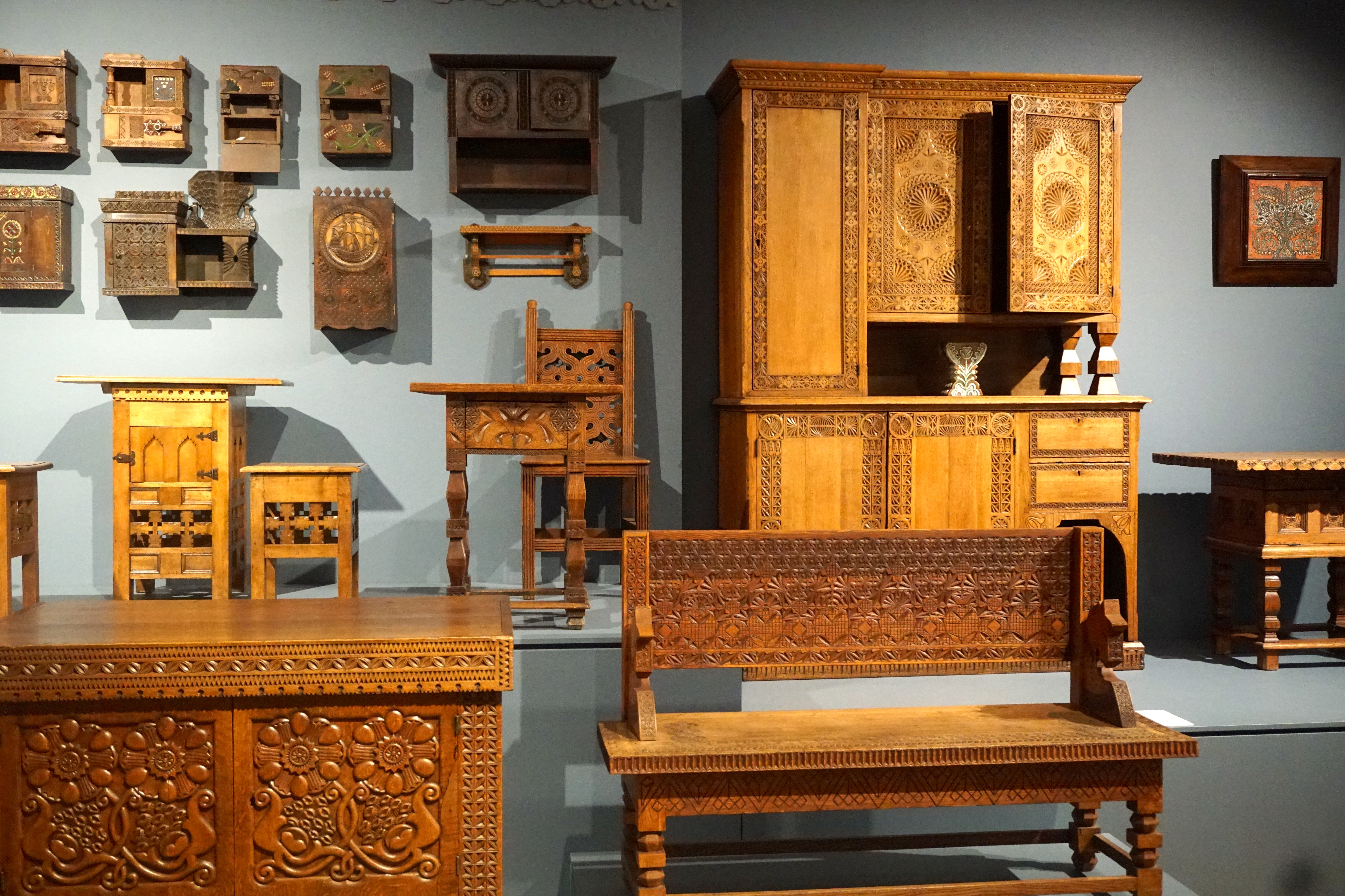 Traditional Russian wooden furniture