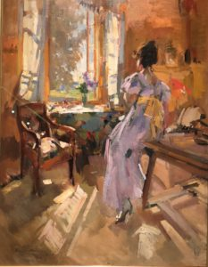 Lady at the window by Korovin