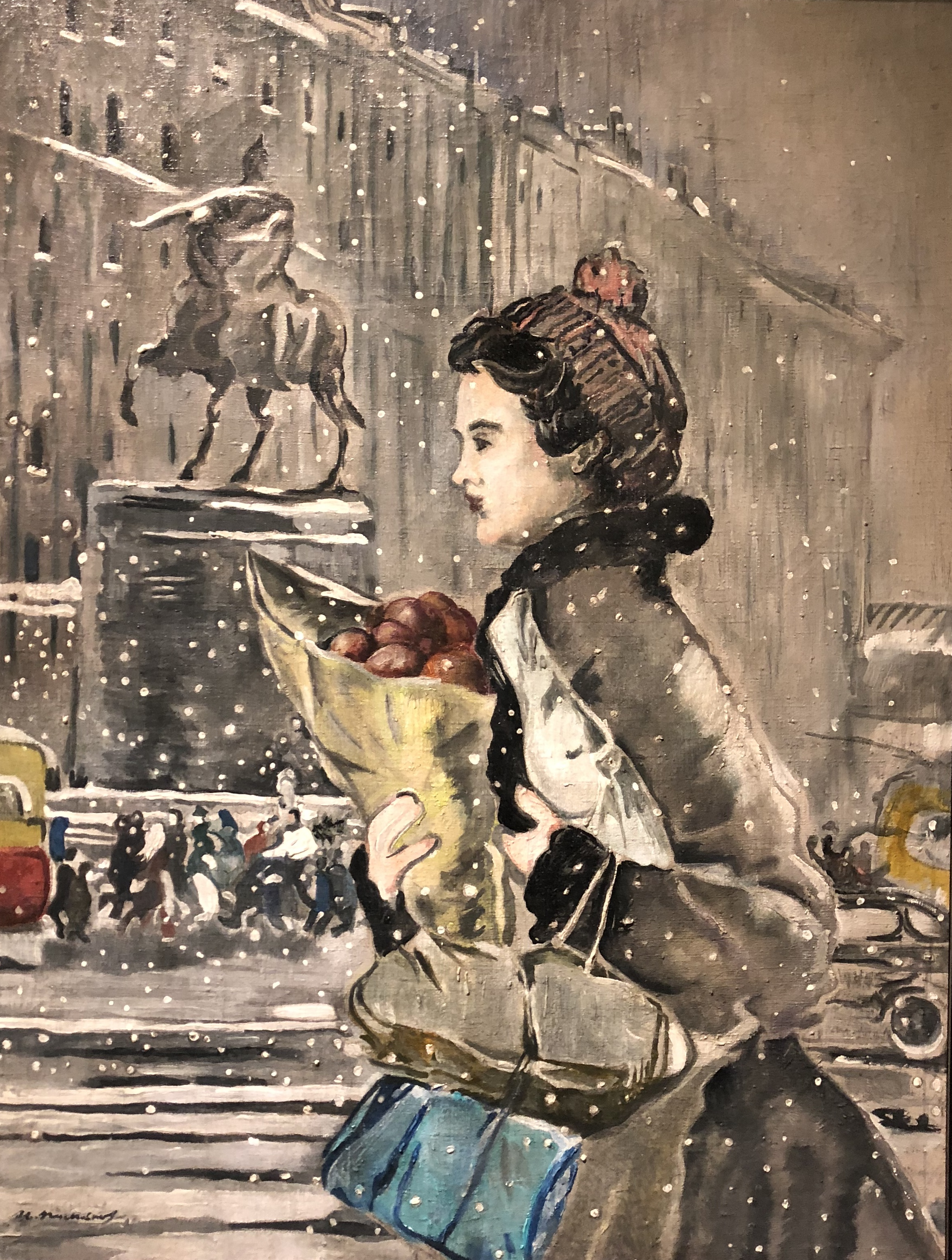 Winter in Moscow by Pimenov