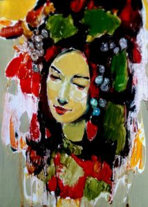 Mher Chatinyan Art, a portrait of a woman
